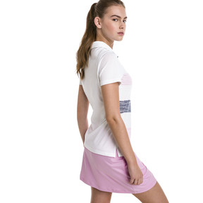 Thumbnail 2 of Race Day Women's Golf Polo, Pale Pink, medium