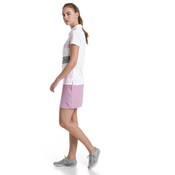 Polo de golf Race Day pour femme, Pale Pink, large