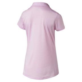 Thumbnail 2 of Women's Super Soft Polo, Pale Pink Heather, medium