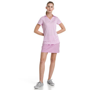 Thumbnail 3 of Super Soft Women's Golf Polo, Pale Pink Heather, medium