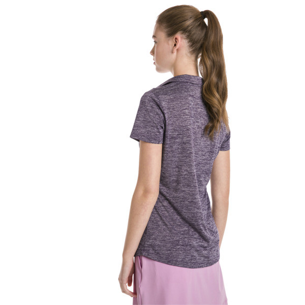 Super Soft Women's Golf Polo, Indigo Heather, large