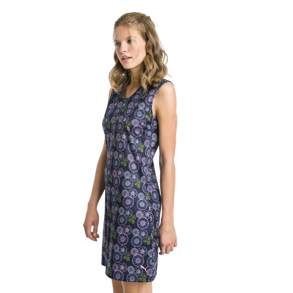Fair Days and Fairways Women's Golf Dress, peacoat-Floral, large