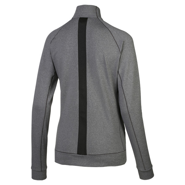 Vented Women's Golf Jacket, Dark Gray Heather, large