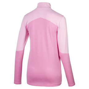 Thumbnail 2 of evoKNIT 1/4 Zip Women's Golf Pullover, Pale Pink Heather, medium