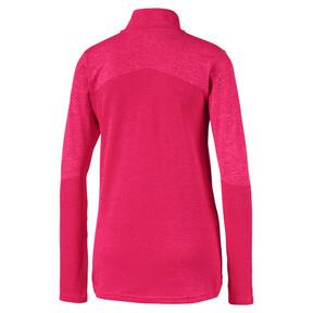 Thumbnail 6 of evoKNIT 1/4 Zip Women's Golf Pullover, Azalea Heather, medium