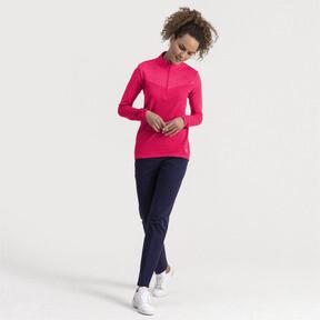 Thumbnail 3 of evoKNIT 1/4 Zip Women's Golf Pullover, Azalea Heather, medium