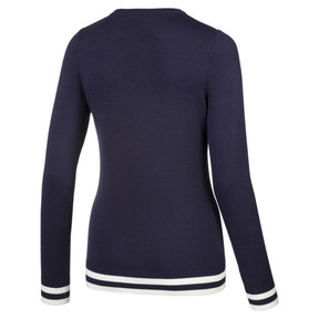 Thumbnail 5 van Chrevron golfsweater voor vrouwen, Nachtblauw, medium