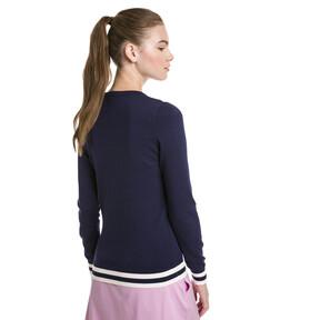 Thumbnail 2 van Chrevron golfsweater voor vrouwen, Nachtblauw, medium