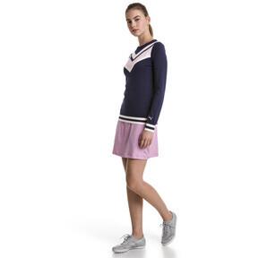 Thumbnail 3 van Chrevron golfsweater voor vrouwen, Nachtblauw, medium