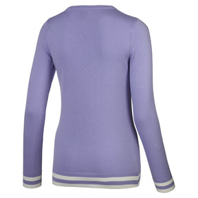 Thumbnail 2 of Chevron Women's Golf Sweater, Sweet Lavender, medium