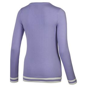 Thumbnail 2 van Chrevron golfsweater voor vrouwen, Sweet Lavender, medium