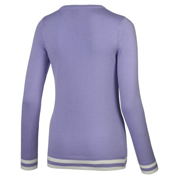 Chrevron golfsweater voor vrouwen, Sweet Lavender, large