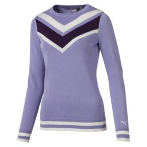 Thumbnail 1 van Chrevron golfsweater voor vrouwen, Sweet Lavender, medium