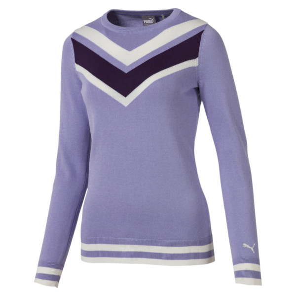 Chevron Women's Golf Sweater, Sweet Lavender, large