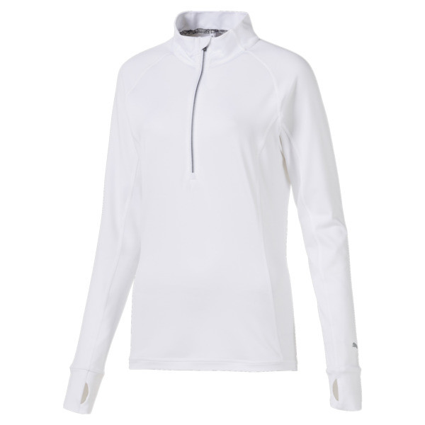 Rotation 1/4 Zip Women's Golf Pullover, Bright White, large