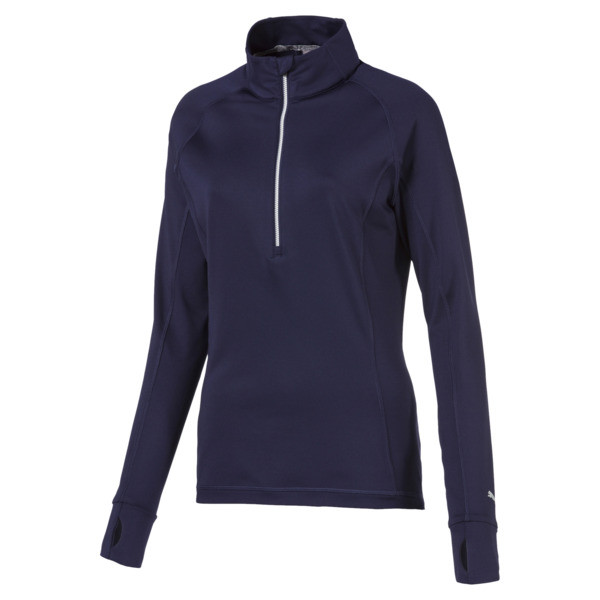 Rotation 1/4 Zip Women's Golf Pullover, Peacoat, large
