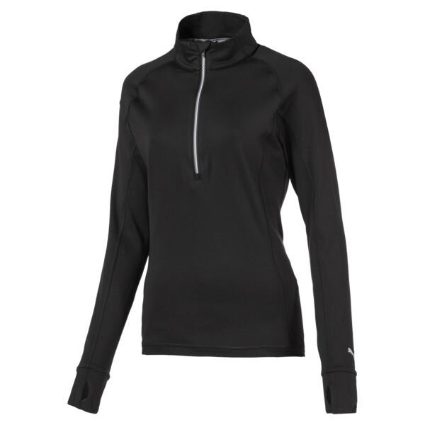 Rotation 1/4 Zip Women's Golf Pullover, Puma Black, large