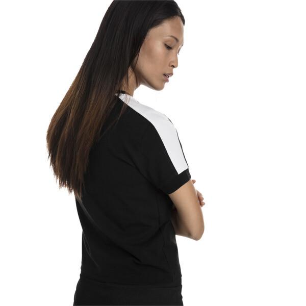 Classics Tight Women's T7 Tee, Cotton Black-puma white, large