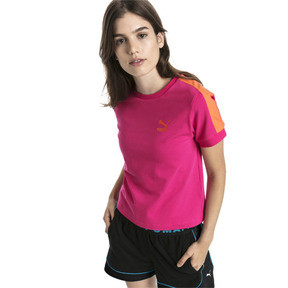 Thumbnail 2 of Classics Tight T7 Women's Tee, Fuchsia Purple, medium