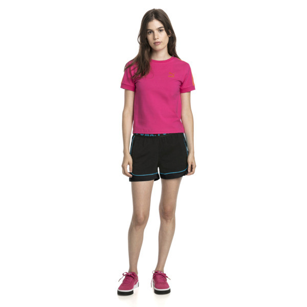 Klasyczna wąska koszulka damska T7, Fuchsia Purple, obszerny