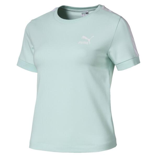 Classics Tight T7 T-shirt voor dames, Fair Aqua, large