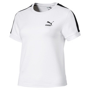 Miniaturka 4 Klasyczna wąska koszulka damska T7, Puma White-black, średnie