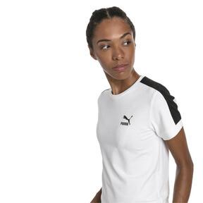 Miniaturka 1 Klasyczna wąska koszulka damska T7, Puma White-black, średnie
