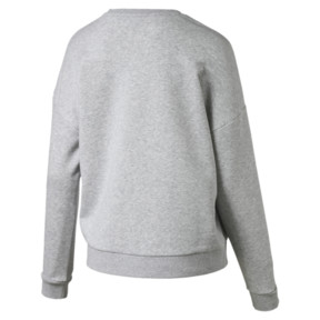 Thumbnail 4 of Classics Logo Women's Crewneck Sweatshirt, Light Gray Heather, medium