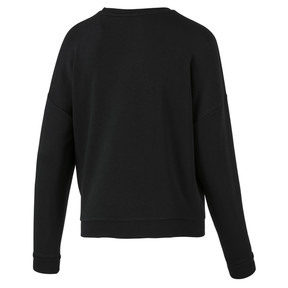 Thumbnail 4 of Classics Logo Women's Crewneck Sweatshirt, Puma Black-white, medium