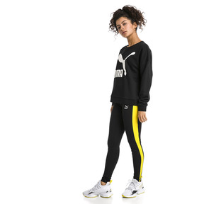 Thumbnail 5 of Classics Logo Damen Sweatshirt, Puma Black-white, medium