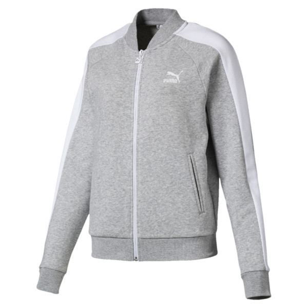 Classics T7 Women's Track Jacket, Light Gray Heather, large