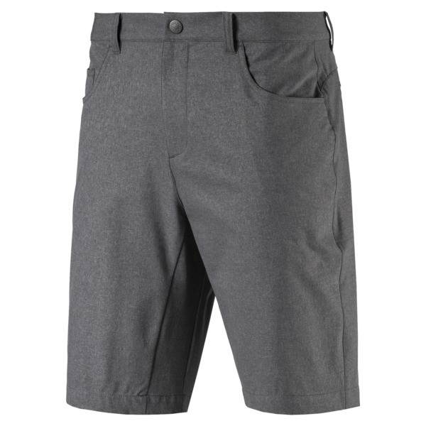 Jackpot 5 Pocket Heather Men's Golf Shorts, QUIET SHADE, large