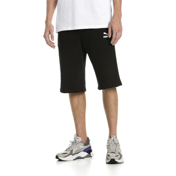 "Classics Logo 12"" Men's Shorts, Cotton Black, large"