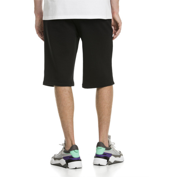 """Classics Men's 12"""" Logo Shorts, Cotton Black, large"""