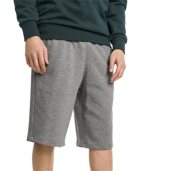 "Classics Logo 12"" Men's Shorts, Medium Gray Heather, large"
