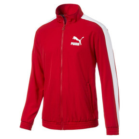Thumbnail 1 of Iconic Men's Woven T7 Track Jacket, High Risk Red, medium
