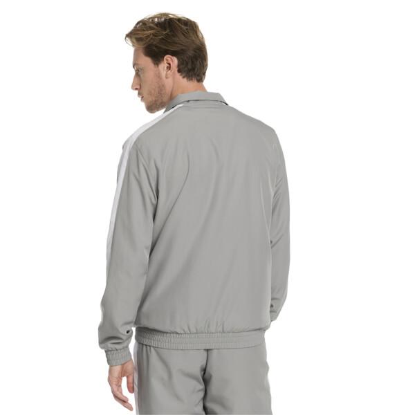 Iconic T7 Woven Men's Track Jacket, Limestone, large