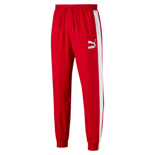 Iconic T7 Track Pants Woven, High Risk Red, large