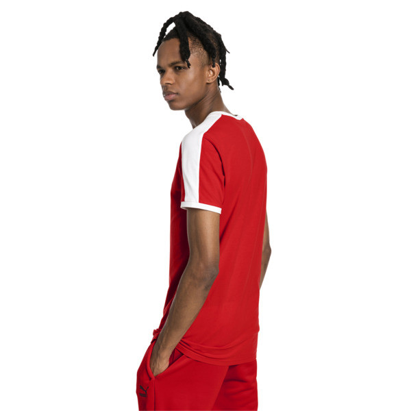 Iconic T7 Men's Slim Tee, High Risk Red, large