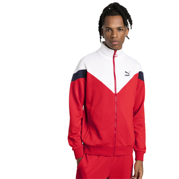 Iconic MCS Track Jacket, High Risk Red, large