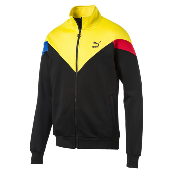 Iconic MCS Men's Track Jacket, Puma Black-yellow, large