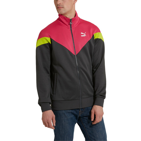 Iconic MCS Men's Track Jacket, Asphalt, large