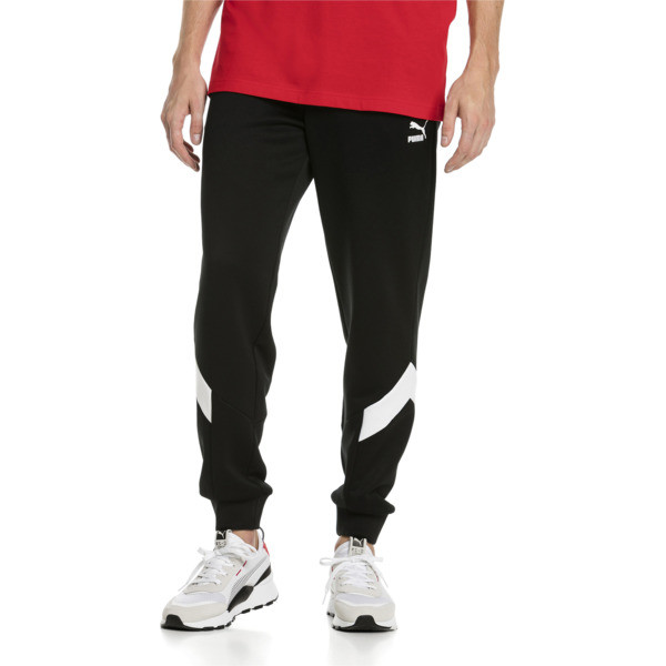 Iconic MCS Men's Track Pants, Puma Black -1, large