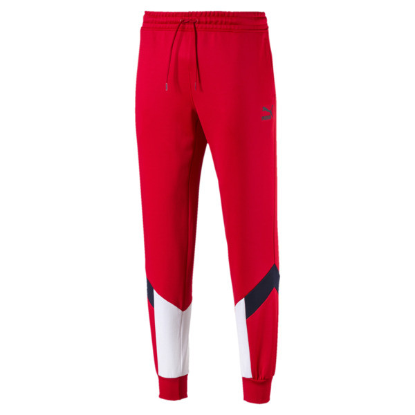 Iconic MCS Men's Track Pants, High Risk Red, large