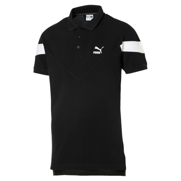 Iconic MCS Men's Slim Polo, Cotton Black, large