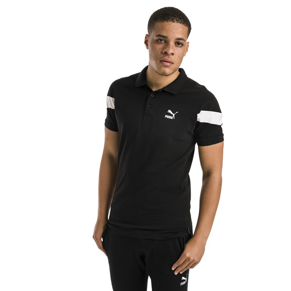 Polo slim de hombre Iconic MCS, Cotton Black, grande