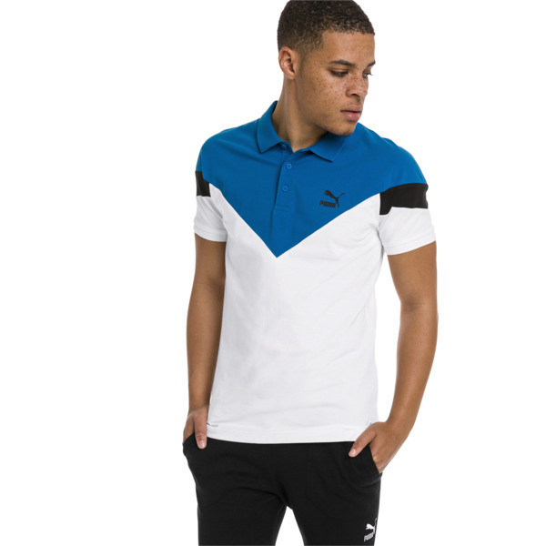 Polo Iconic MCS Slim pour homme, Puma White, large