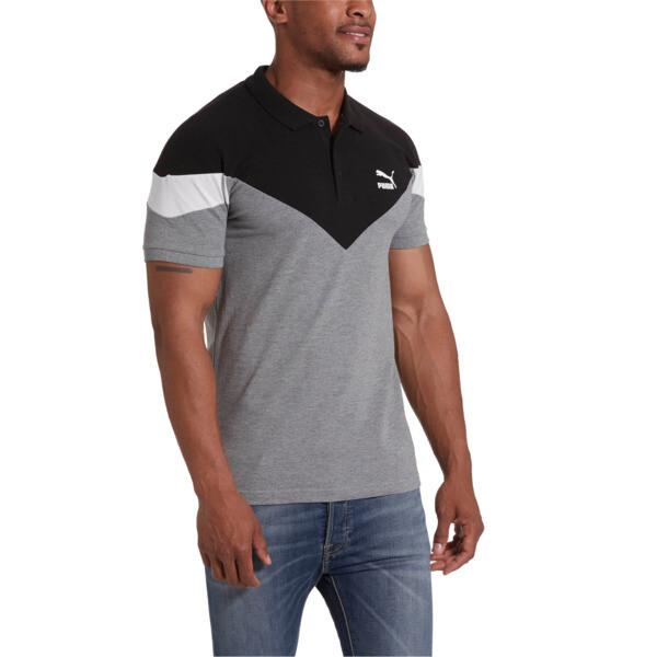 Iconic MCS Men's Slim Polo, Medium Gray Heather, large