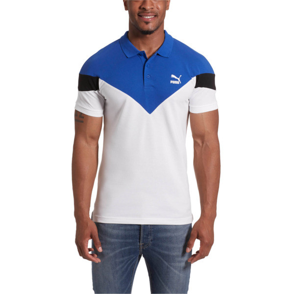 Iconic MCS Men's Slim Polo, Puma White, large