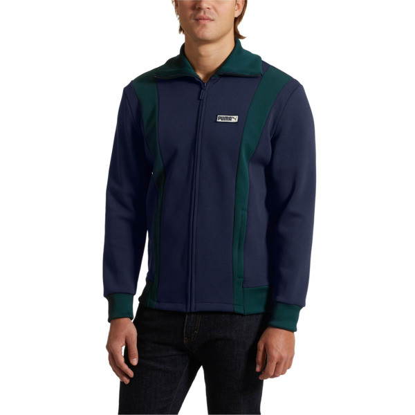 Iconic T7 Spezial Men's Track Jacket, Peacoat, large